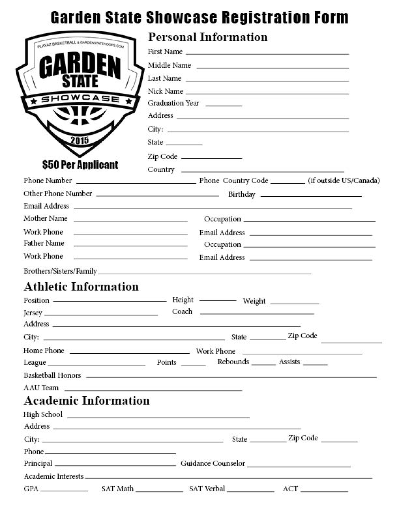 Combine pdf files online for High school registration form template